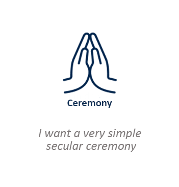 I want a very simple secular ceremony